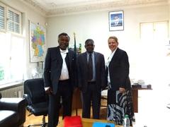 Mussa Khamis Mussa, Botschafter Philip Marmo und Antje Fleischer